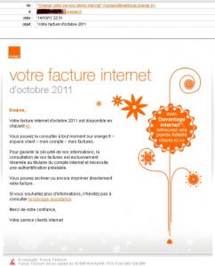 Facture Orange